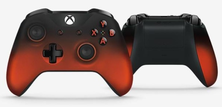 Check the neat looking Xbox One Wireless Controller Volcano Shadow Special Edition.
